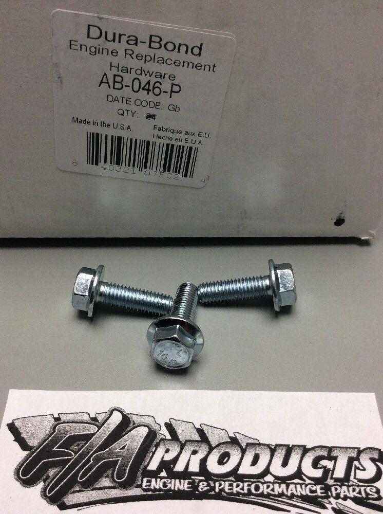 Chevrolet LS1 LS2 LS3 LS6 Engine Cam Sprocket Bolts Set Of 3 Dura Bond  AB-046-P