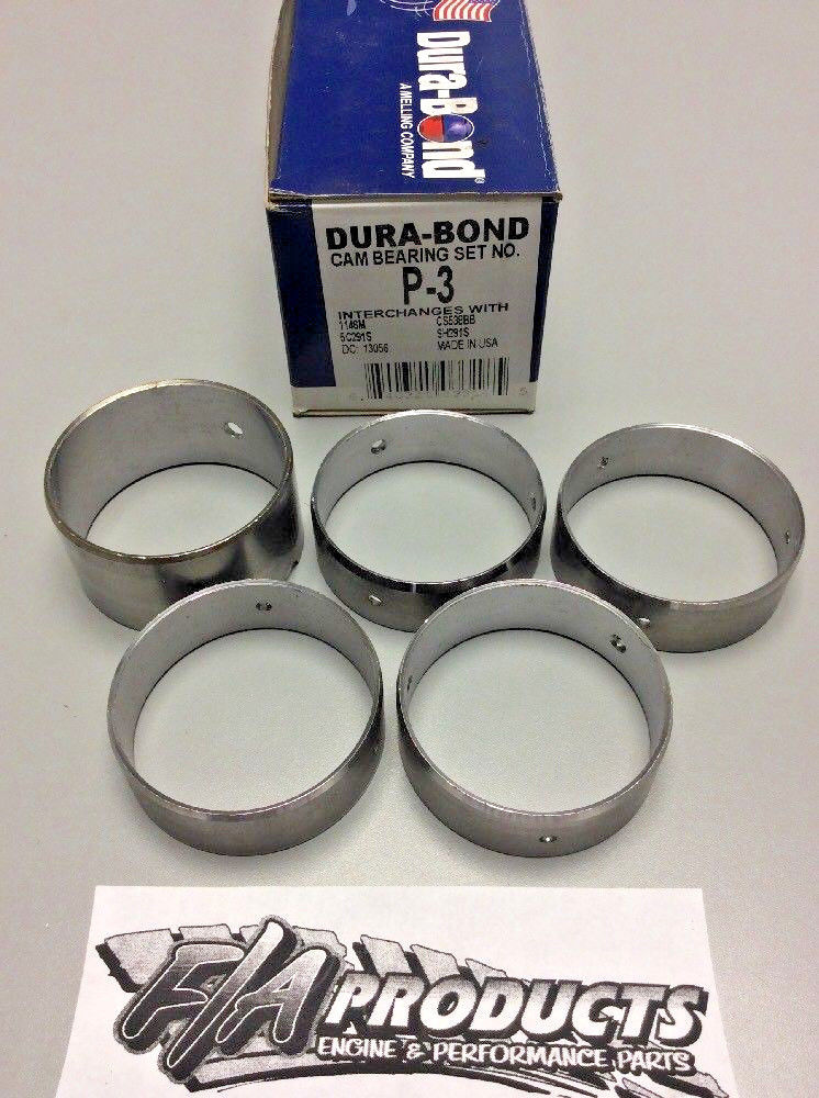 1955 to 1962 Pontiac 317 336 347 370 389 Dura-Bond P3 Engine Camshaft Bearings
