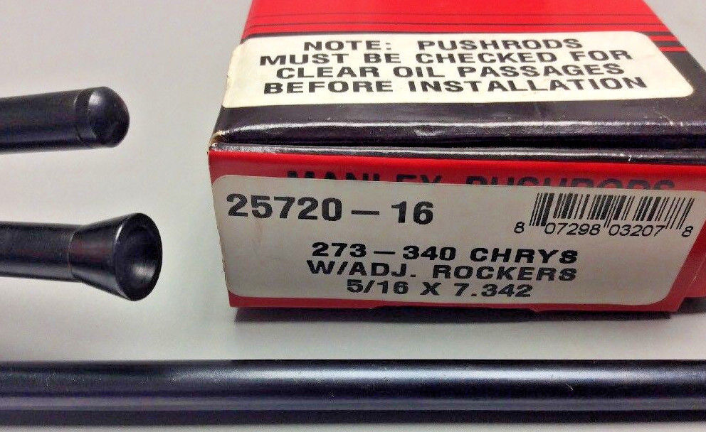 5//16 Diameter x 7.550 Long Chrome Moly Pushrod 25755-1 Manley