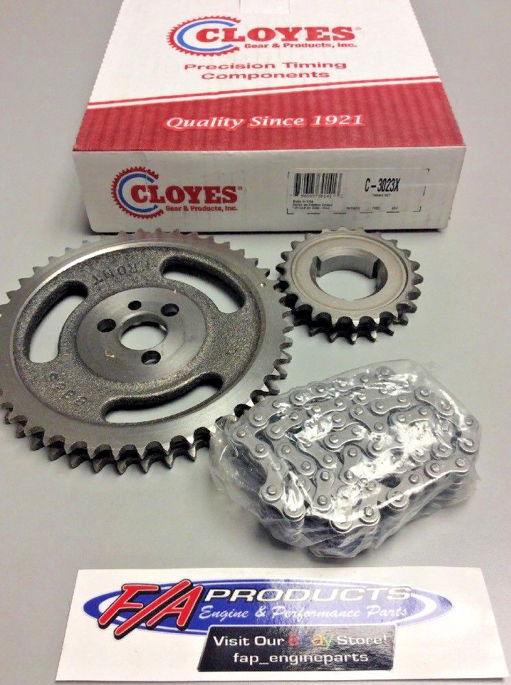Small Block Chevy Engine Double Roller 3 Keyway Timing Set Cloyes C-3023X