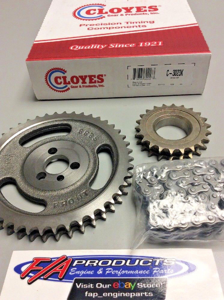 Small Block Chevy Engine Double Roller Timing Set Cloyes C-3023K