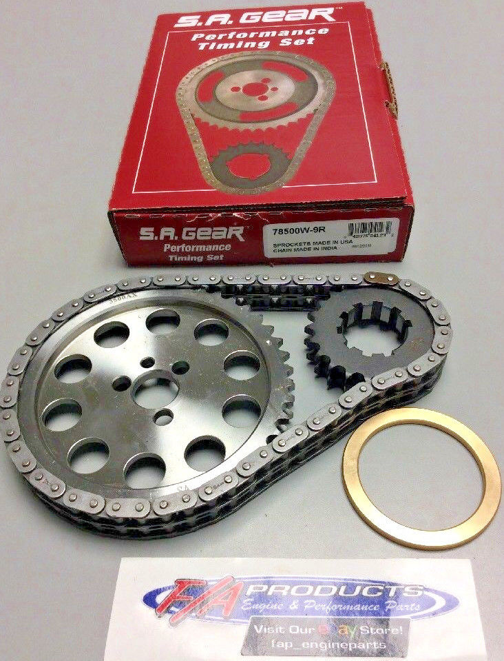 Small Block Chevy  250 Roller Billet Timing Set Bronze Washer S A  GEAR  78500W-9