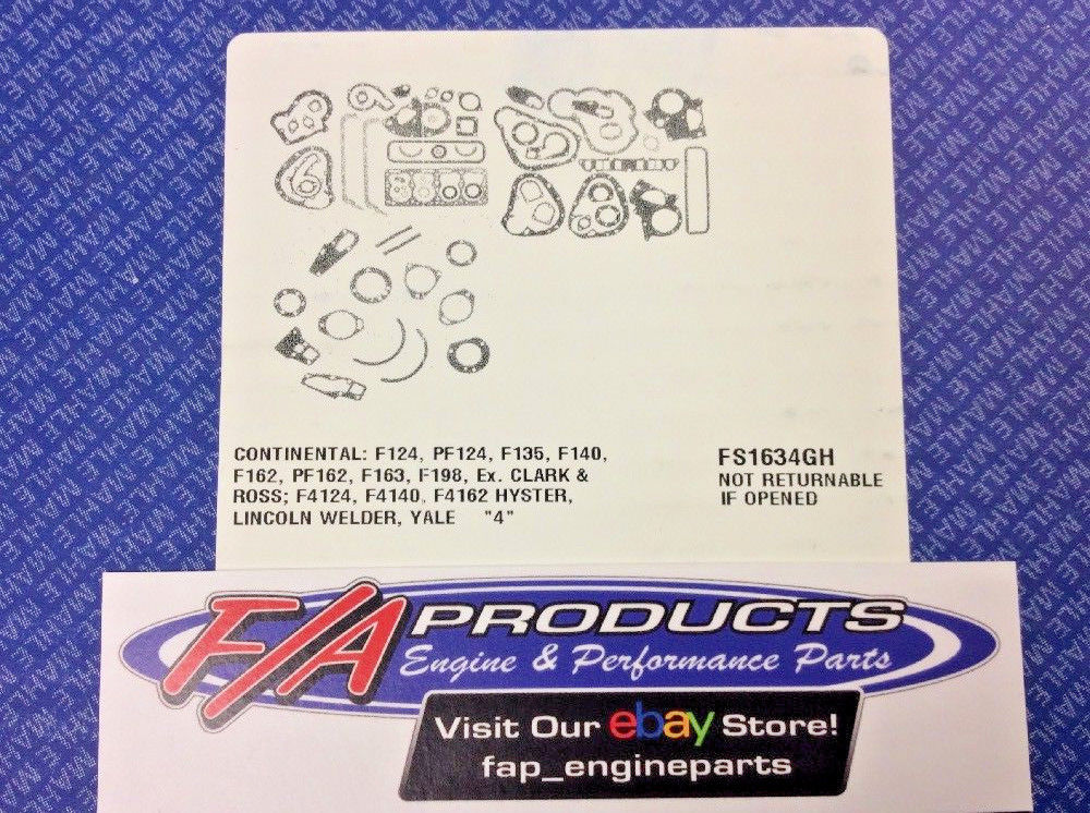 Continental F Series 4 Cylinder Engines Full Gasket Set MAHLE FS1634GH