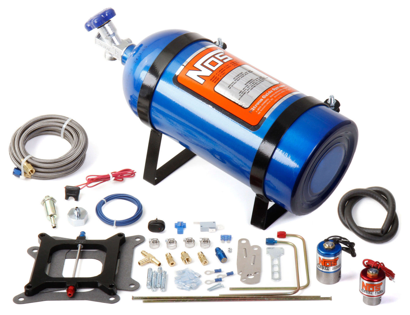 NOS Cheater Fits Holley 4150 Carter AFB 150-250 HP Blue 10 lb Bottle Nitrous Kit