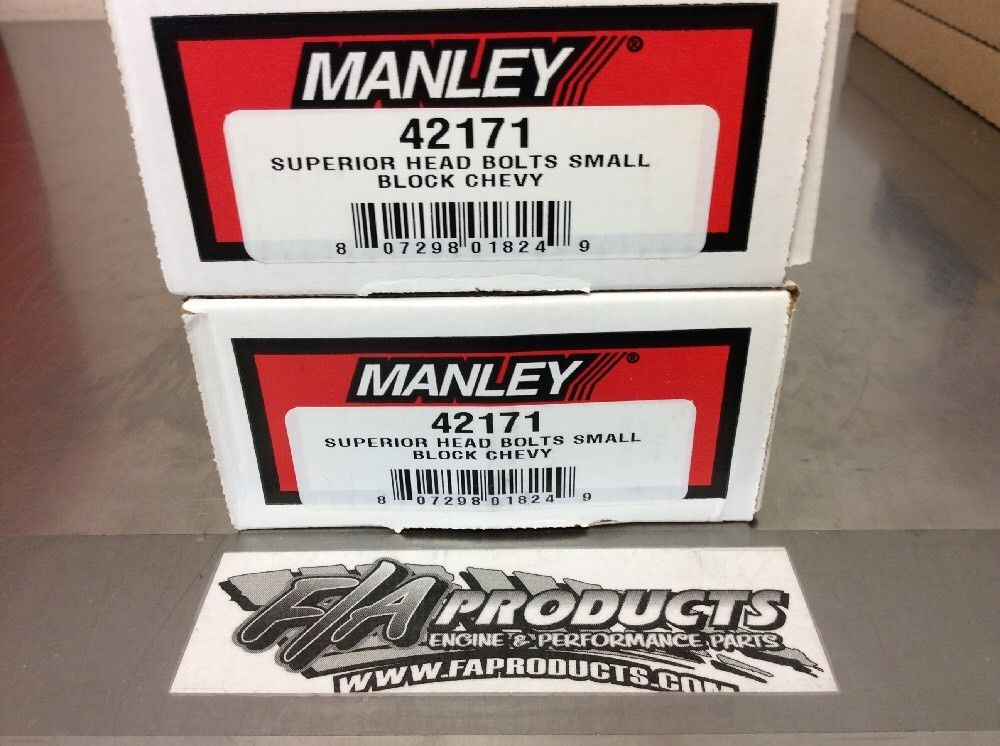 TWO SETS Manley 42171 Chevy Small Block Head Bolt Kit Does Both Heads