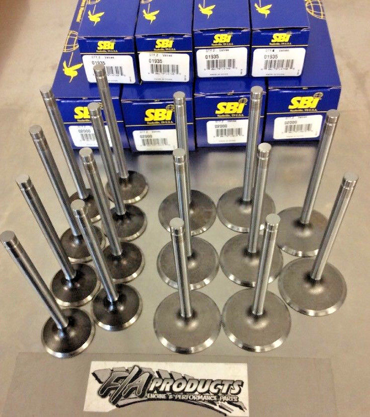 GM LS V8 2005 To 2009 4.8 5.3 6.0 Stock Valves set SBI 02000 01935