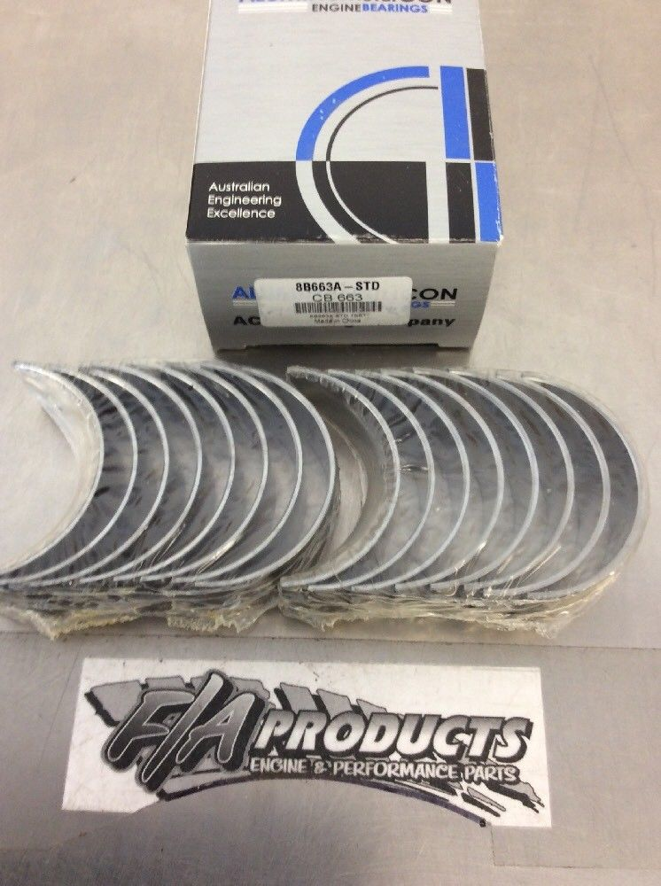 Chevy Small Block 305 327 350 383 ACL Aluglide A-Series Rod Bearing Set STD