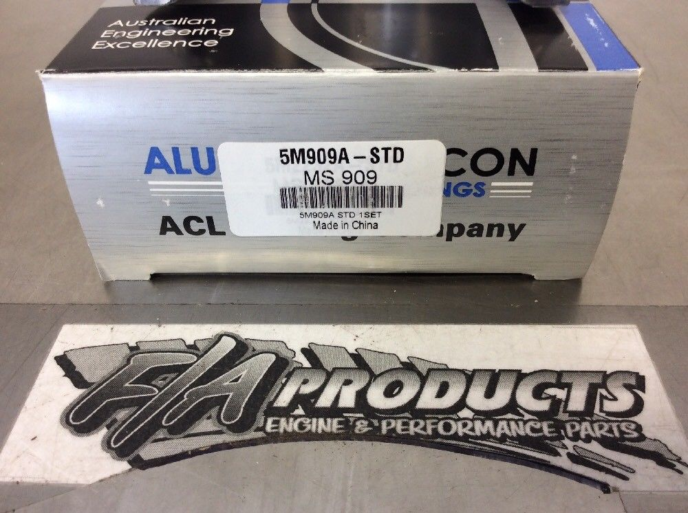 Chevy Small Block 305 327 350 383 ACL Aluglide A-Series Main Bearing Set .001