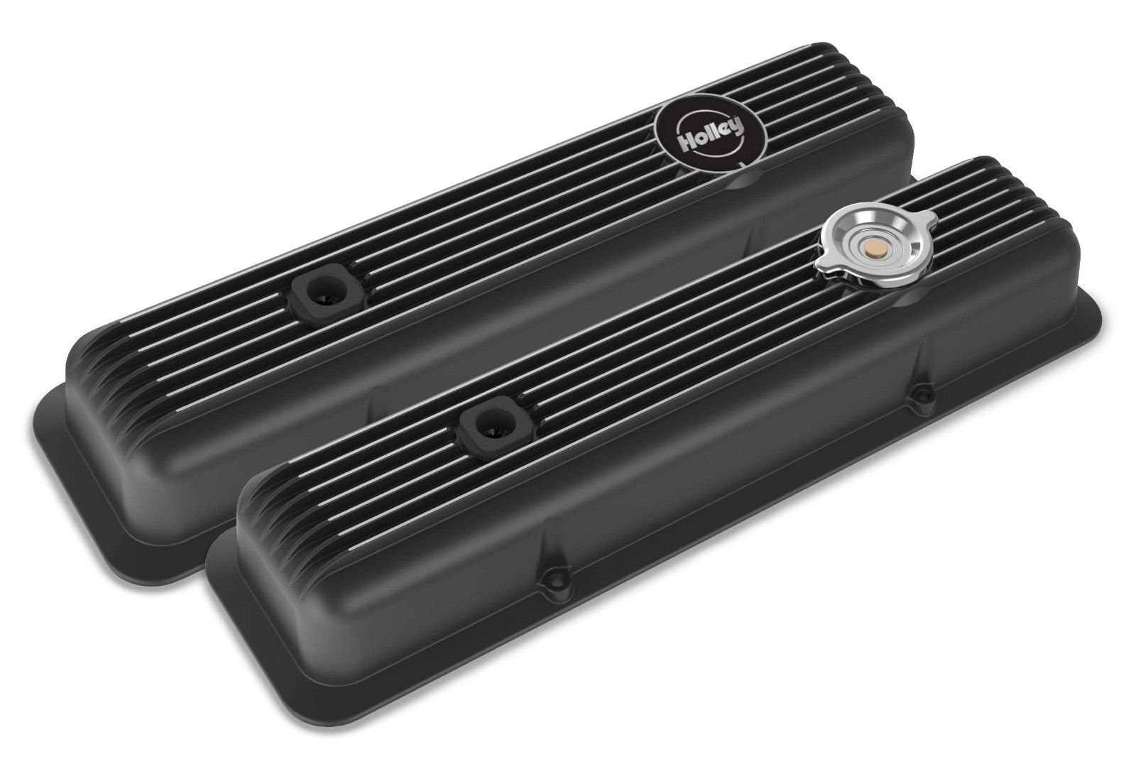 Holley 241-135 Muscle Car Series SBC Valve Covers Black Finned Z28 L82 LT1