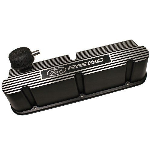 Ford Racing Black Aluminum Valve Covers Pent Roof 289 302 351W SBF Pentroof