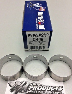 Chevy Pontiac Mercruiser 151 2.5L / 181 3.0L Cam Bearing Set Dura Bond CH-16