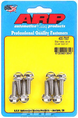 ARP Aluminum Valve Cover 8 Piece BOLT Kit STAINLESS Hex Nuts ARP 400-7507 USA