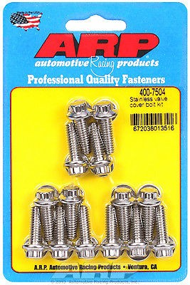 ARP Aluminum Valve Cover 14 Piece 12 Point BOLT Kit STAINLESS ARP 400-7504 USA